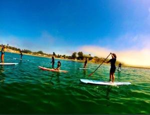 Learn to paddle boarding at santa cruz!